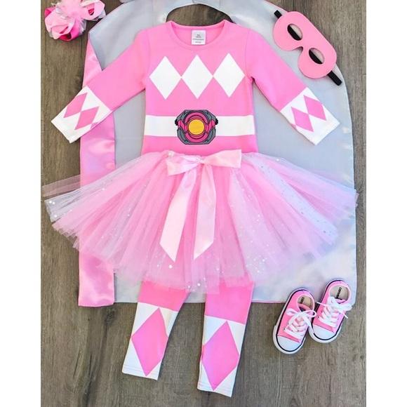 0bd931992a Girls Pink Power Ranger Costume. M 5baee0aa5a9d218ee38f5b87